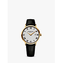 Buy Raymond Weil 5488-pc-00300 Men's Round Dial Leather Strap Watch Online at johnlewis.com