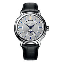 Buy Raymond Weil 2869-STC-65001 Men's Maestro Phase De Lune Stainless Steel Watch, Silver/Black Online at johnlewis.com