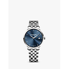 Buy Raymond Weil 5488-st-50001 Men's Blue Dial Stainless Steel Bracelet Watch Online at johnlewis.com