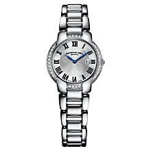 Buy Raymond Weil 5229-STS-001659 Women's Jasmine Diamond Stainless Steel Watch, Silver Online at johnlewis.com