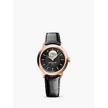 Buy Raymond Weil 2827-PC5-20001 Maestro Leather Strap Rose Gold Watch, Black Online at johnlewis.com