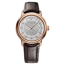 Buy Raymond Weil 2837-PC5-65001 Men's Automatic Maestro Watch, Silver Online at johnlewis.com
