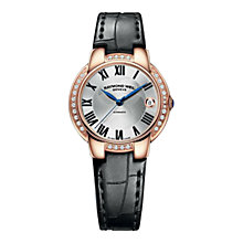 Buy Raymond Weil 2935-PCS-01659 Women's Jasmine Alligator Strap Watch, Black Online at johnlewis.com
