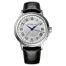 Buy Raymond Weil 2851-STC-00659 Men's Maestro Automatic Leather Strap Watch, Black Online at johnlewis.com