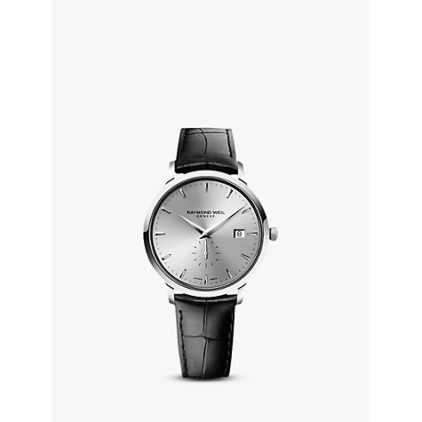 Buy Raymond Weil 5484-STC-65001 Toccata Stainless Steel Leather Strap Watch, Black Online at johnlewis.com