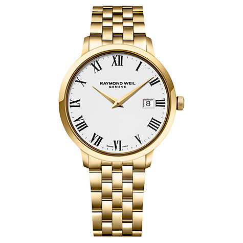 Buy Raymond Weil 5488-P-00300 Toccata Men's Bracelet Strap Watch, Gold Online at johnlewis.com