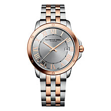 Buy Raymond Weil 5591-SB5-00658 Men's Tango Stainless Steel Watch, Rose Gold/Silver Online at johnlewis.com