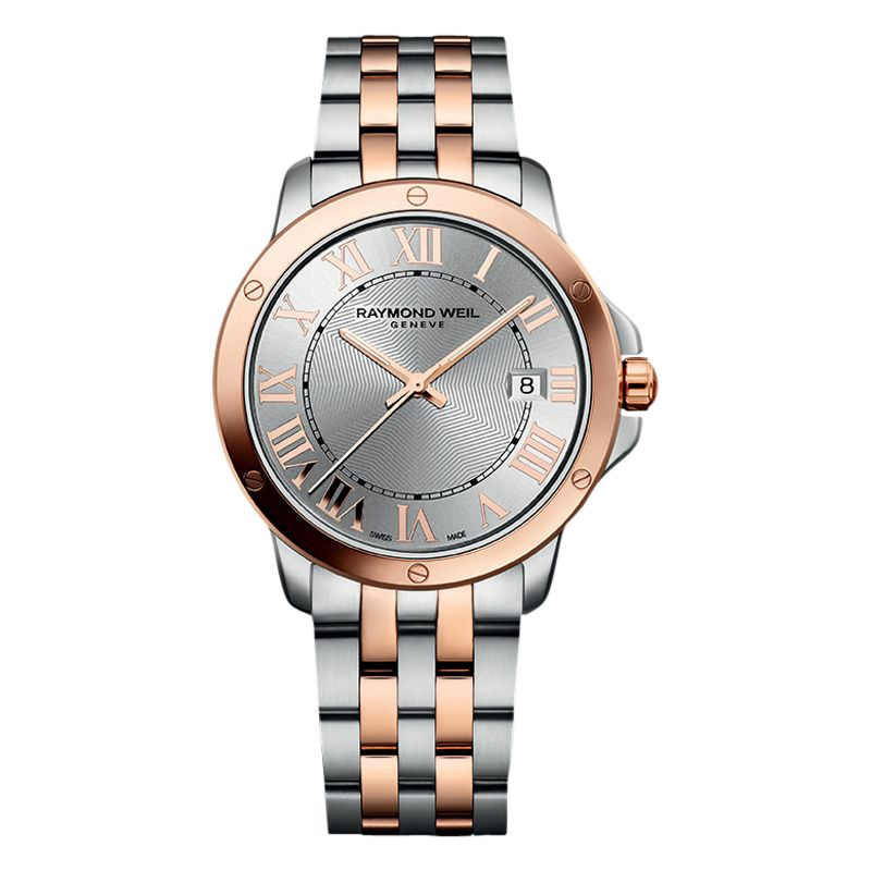 Raymond Weil Raymond Weil 5591-SB5-00658 Men's Tango Two Tone Bracelet Strap Watch, Rose Gold/Silver