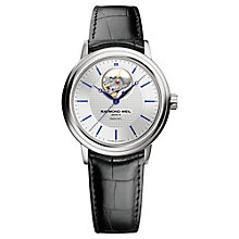 Buy Raymond Weil 2827-STC-65001 Maestro Men's Leather Strap Watch, Black Online at johnlewis.com