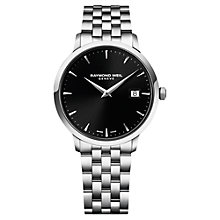 Buy Raymond Weil Men's Round Dial Stainless Steel Bracelet Watch Online at johnlewis.com
