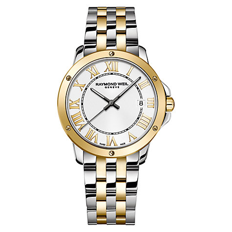Buy Raymond Weil 5591-STP-00308 Men's Tango Silver Dial Two-tone Stainless Steel Watch, Multi Online at johnlewis.com
