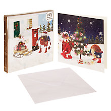 Buy John Lewis Duo Felt Friends Charity Christmas Card, Box of 10 Online at johnlewis.com
