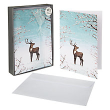 Buy John Lewis Luxury Snowy Reindeer Charity Christmas Cards, Box of 8 Online at johnlewis.com