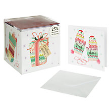 Buy John Lewis Cube Flittered Fairisle Charity Christmas Cards, Box of 30 Online at johnlewis.com