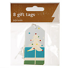 Buy John Lewis Bright Stripe Gift Tags, Pack of 8 Online at johnlewis.com