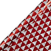 Buy John Lewis Foil Triangular Trees Gift Wrap, 3m Online at johnlewis.com