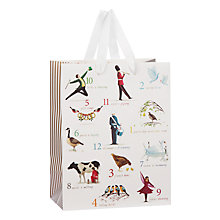 Buy John Lewis Twelve Days Of Christmas Gift Bag, Small Online at johnlewis.com