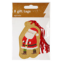 Buy John Lewis Santa On Craft Gift Tags, Pack of 8 Online at johnlewis.com