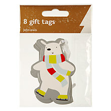 Buy John Lewis Polar Bear Gift Tags, Pack of 8 Online at johnlewis.com