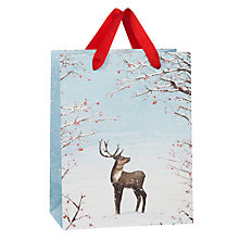 Buy John Lewis Reindeer Cameo Bag, Small, Multi Online at johnlewis.com
