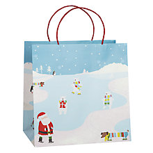 Buy John Lewis Winter Scene Gift Bag, Large Online at johnlewis.com
