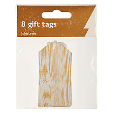 Buy John Lewis Wood Grain On Craft Paper Gift Tags, Pack of 8 Online at johnlewis.com