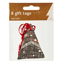 Buy John Lewis Foil Triangular Trees Gift Tags, Pack of 8 Online at johnlewis.com