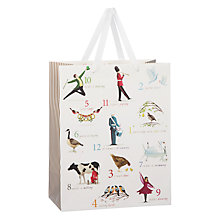 Buy John Lewis Twelve Days Of Christmas Gift Bag, Medium Online at johnlewis.com