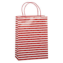 Buy John Lewis Typewriter Gift Bag, Red, Large Online at johnlewis.com