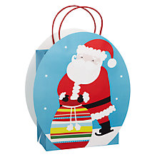 Buy John Lewis Die-Cut Santa Gift Bag, Large Online at johnlewis.com