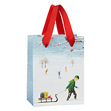 Buy John Lewis Winter Scene Boy Gift Bag, Mini, Multi Online at johnlewis.com