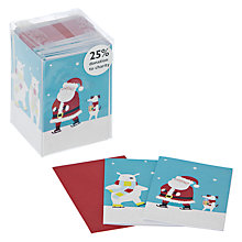 Buy John Lewis Mini Santa and Friends Flittered Charity Christmas Cards, Box of 24 Online at johnlewis.com