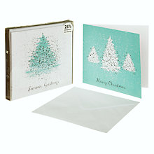 Buy John Lewis Duo Ice Sparkle Trees Charity Christmas Cards, Box of 10 Online at johnlewis.com