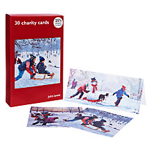 Buy John Lewis Snowballs and Sledges Charity Christmas Cards, Box of 30 Online at johnlewis.com