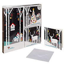 Buy John Lewis Trio Midnight Scenes Charity Christmas Cards, Box of 28 Online at johnlewis.com