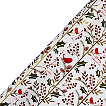 Buy John Lewis Little Red Bird Gift Wrap, 3m Online at johnlewis.com