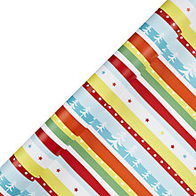 Buy John Lewis Bright Stripe Wrapping Paper, 10m, Multi Online at johnlewis.com