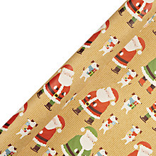 Buy John Lewis Santa And Dog Extra Wide Wrapping Paper, 4m Online at johnlewis.com