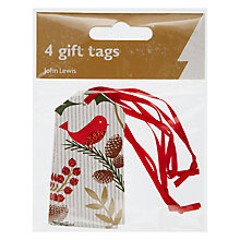 Buy John Lewis Little Red Bird Tags, Pack of 4 Online at johnlewis.com