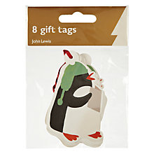 Buy John Lewis Penguin Gift Tags, Pack of 8 Online at johnlewis.com