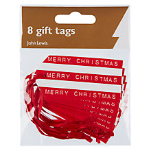 Buy John Lewis Typewriter Gift Tags, Red, Pack of 8 Online at johnlewis.com