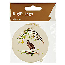 Buy John Lewis Twelve Days Of Christmas Gift Tags, Pack of 8 Online at johnlewis.com