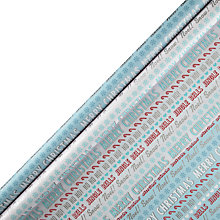 Buy John Lewis Christmas Text Gift Wrap, 3m Online at johnlewis.com