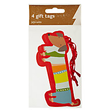 Buy John Lewis Sausage Dog Gift Tags, Pack of 4 Online at johnlewis.com
