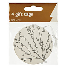 Buy John Lewis Catkins Silver Gift Tags, Pack of 4 Online at johnlewis.com