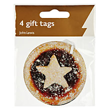 Buy John Lewis Mince Pies Gift Tags, Pack of 4 Online at johnlewis.com