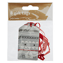Buy John Lewis Fairisle Gift Tags, Pack of 8, Multi Online at johnlewis.com
