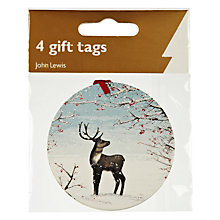 Buy John Lewis Reindeer Cameo Gift Tags, Pack of 4 Online at johnlewis.com