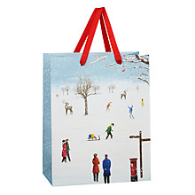 Buy John Lewis Winter Scene Gift Bag, Medium, Multi Online at johnlewis.com