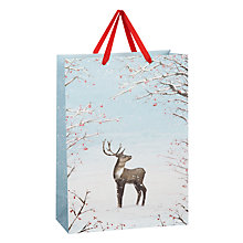 Buy John Lewis Reindeer Cameo Gift Bag, Large Online at johnlewis.com